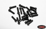 RC4WD Miniature Scale Hex Bolts (M2.5 x 8mm) (Schwarz) (20 St�ck)